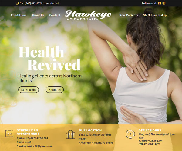 Hawkeye Chiropractic Website Design