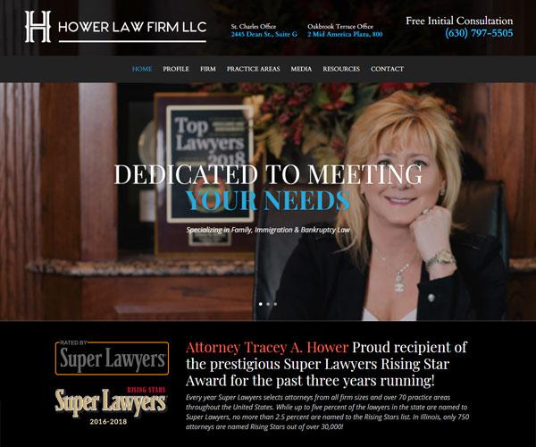 Hower Law Website Design