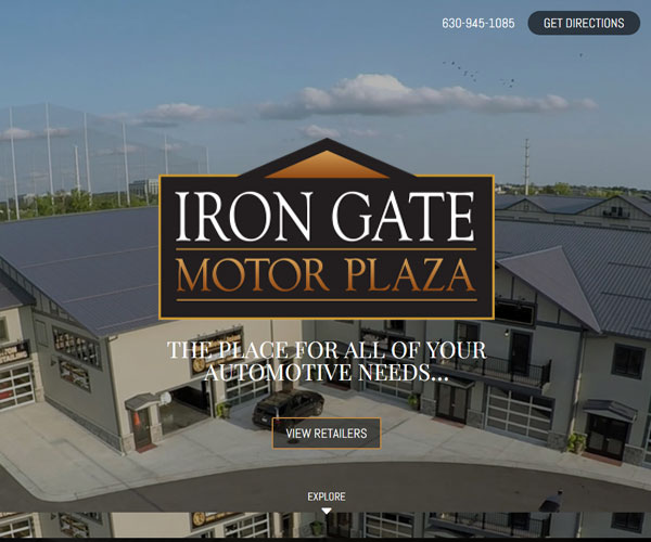 Iron Gate Motor Plaza Website Design
