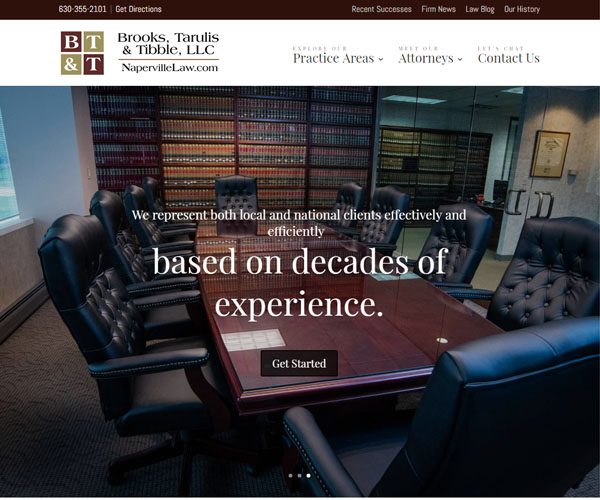 Naperville Law Website Design