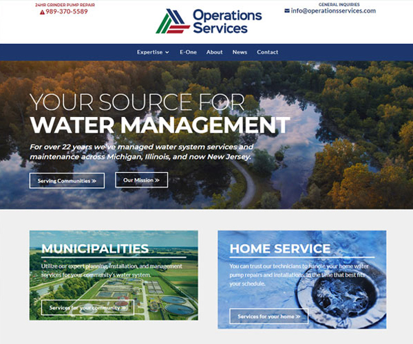 Operations Services Website Design