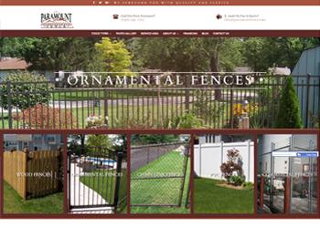 Paramount Fence Website Design