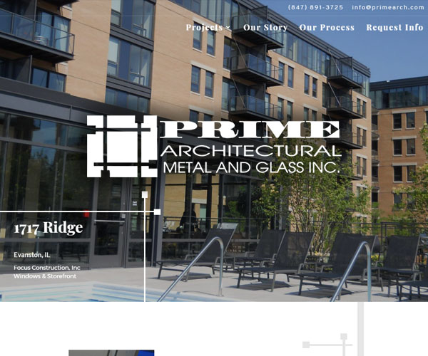 Prime Architectural Website Design