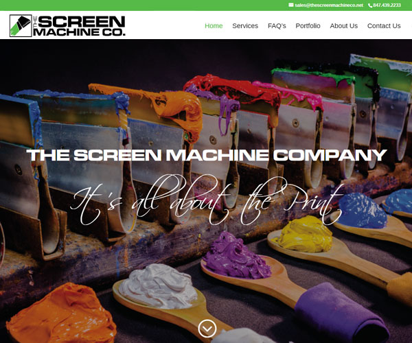 Screen Machine Website Design