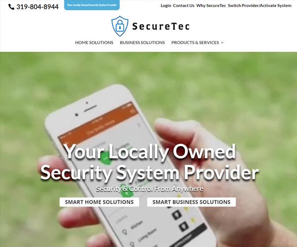 SecureTec Website Design