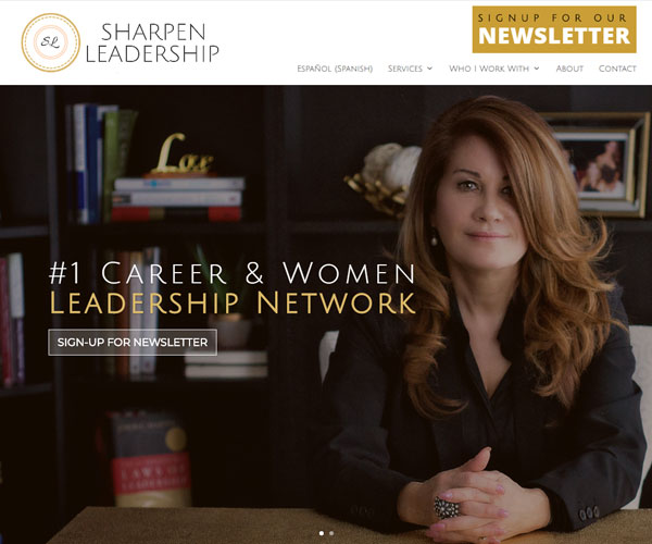 Sharpen Leadership Website Design