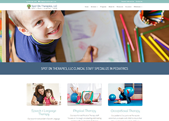 Spot On Therapies Website Design