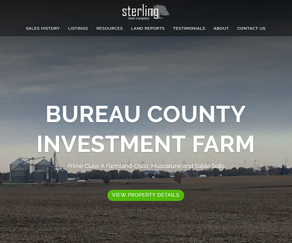 Sterling Land Website Design