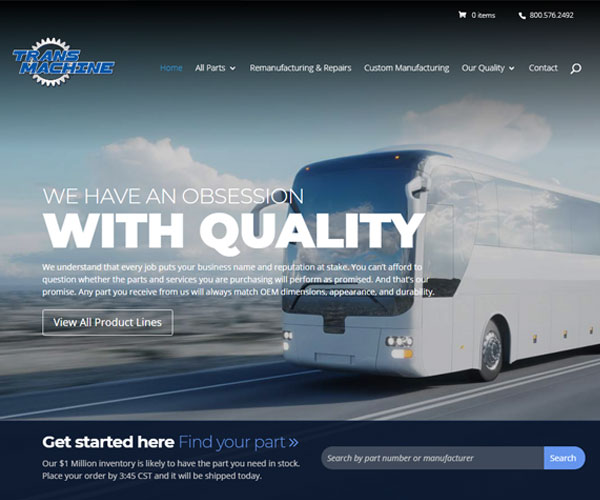Trans Machine Website Design