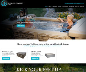 Ultimate Comfort Spas Website Design