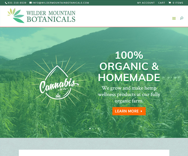 Wilder Mountain Botanicals Website Design