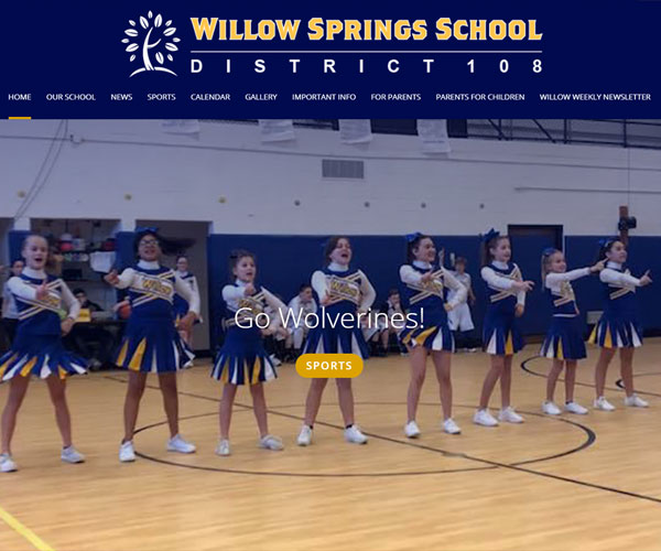Willow Springs School Website Design