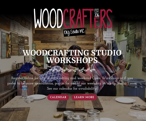 Woodcrafters DIY Studio Inc Website Design