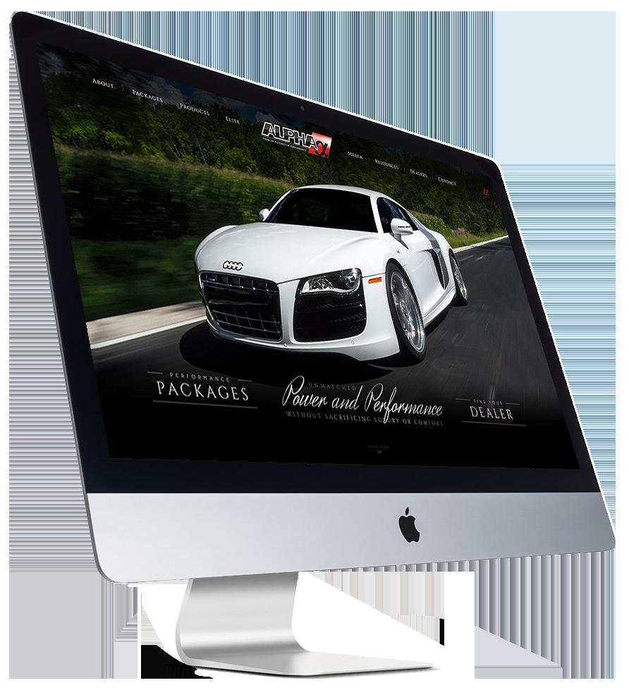 Custom Website Design AMS Performance on desktop computer