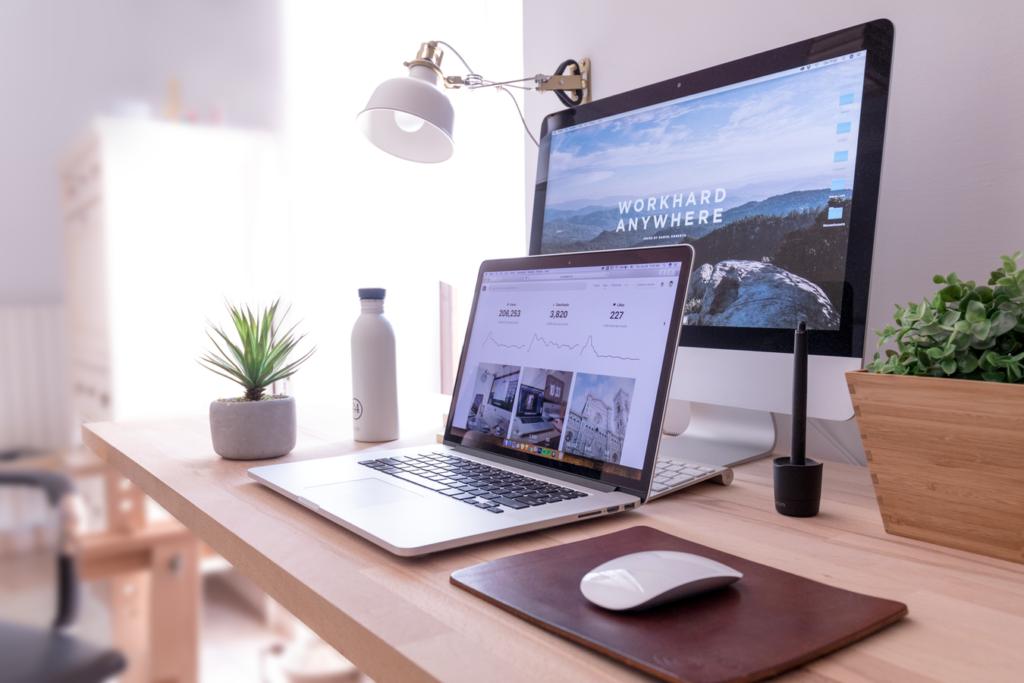 Website Design desktop computer and laptop