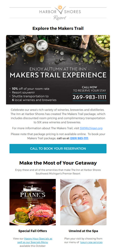 Harbor Shores Email marketing template