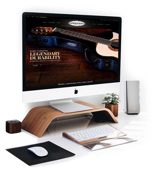 Hoffee Cases showen on an Apple desktop computer