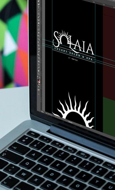 Solaia Luxury Salon and Spa Logo Mockup