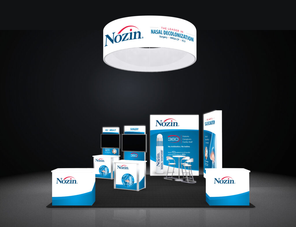 Nozin Layout of trade show booths