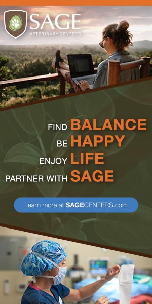 Sage Veterinary Centers Vertical Banner