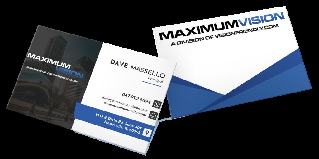 Maximum Vision Business Cards