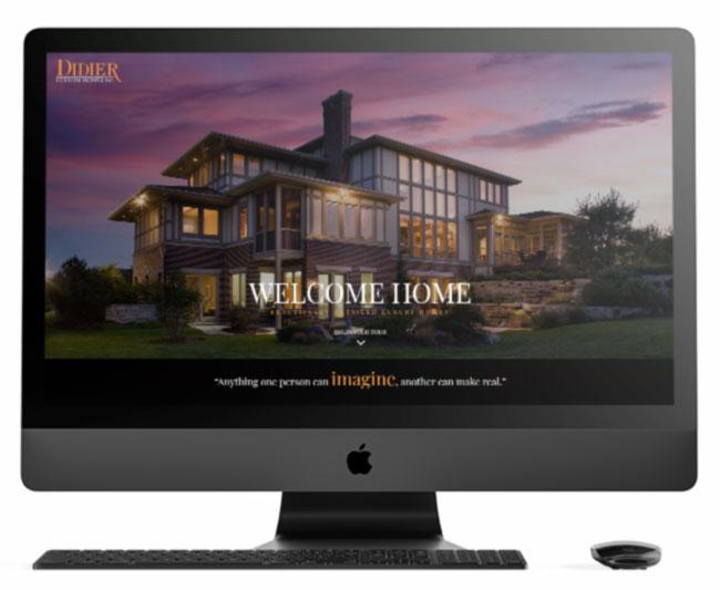 View of Didier Custom Homes on Mac Desktop computer