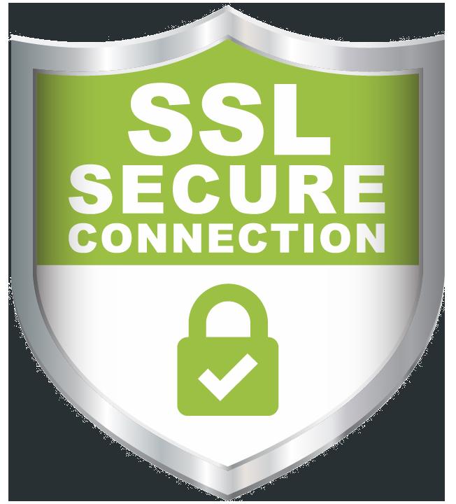 SSL Secure connection shield badge