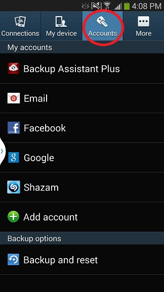 Android Setup Step 1
