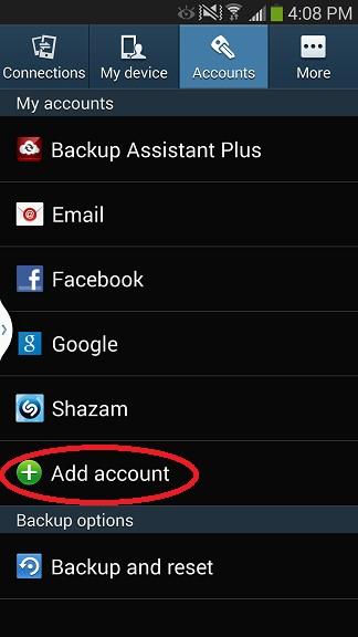 Android Setup Step 2