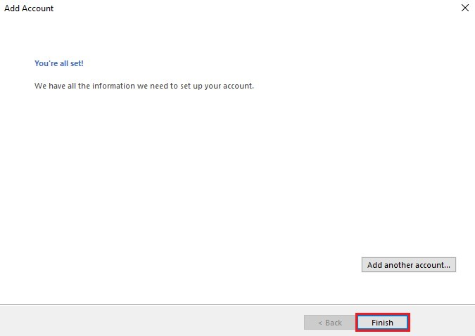 Outlook Step 12