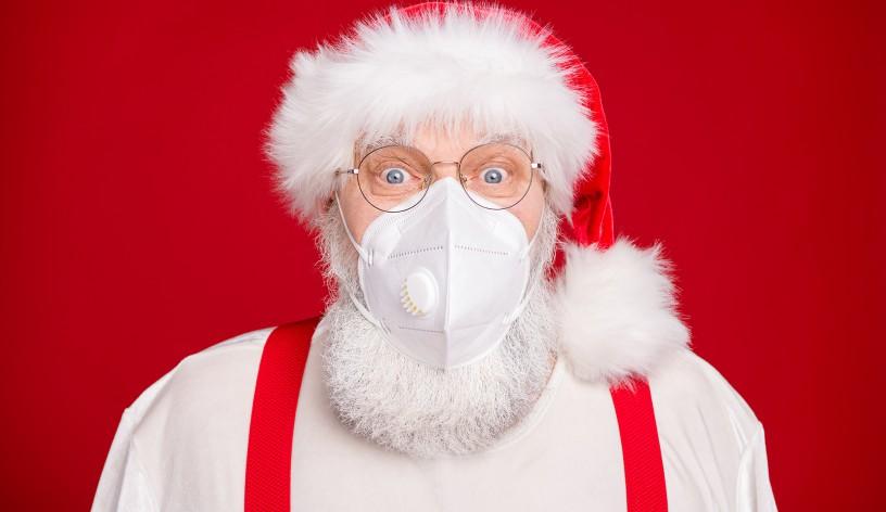 Santa Wearing Mask
