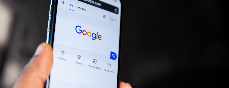 Mobile phone using Google search